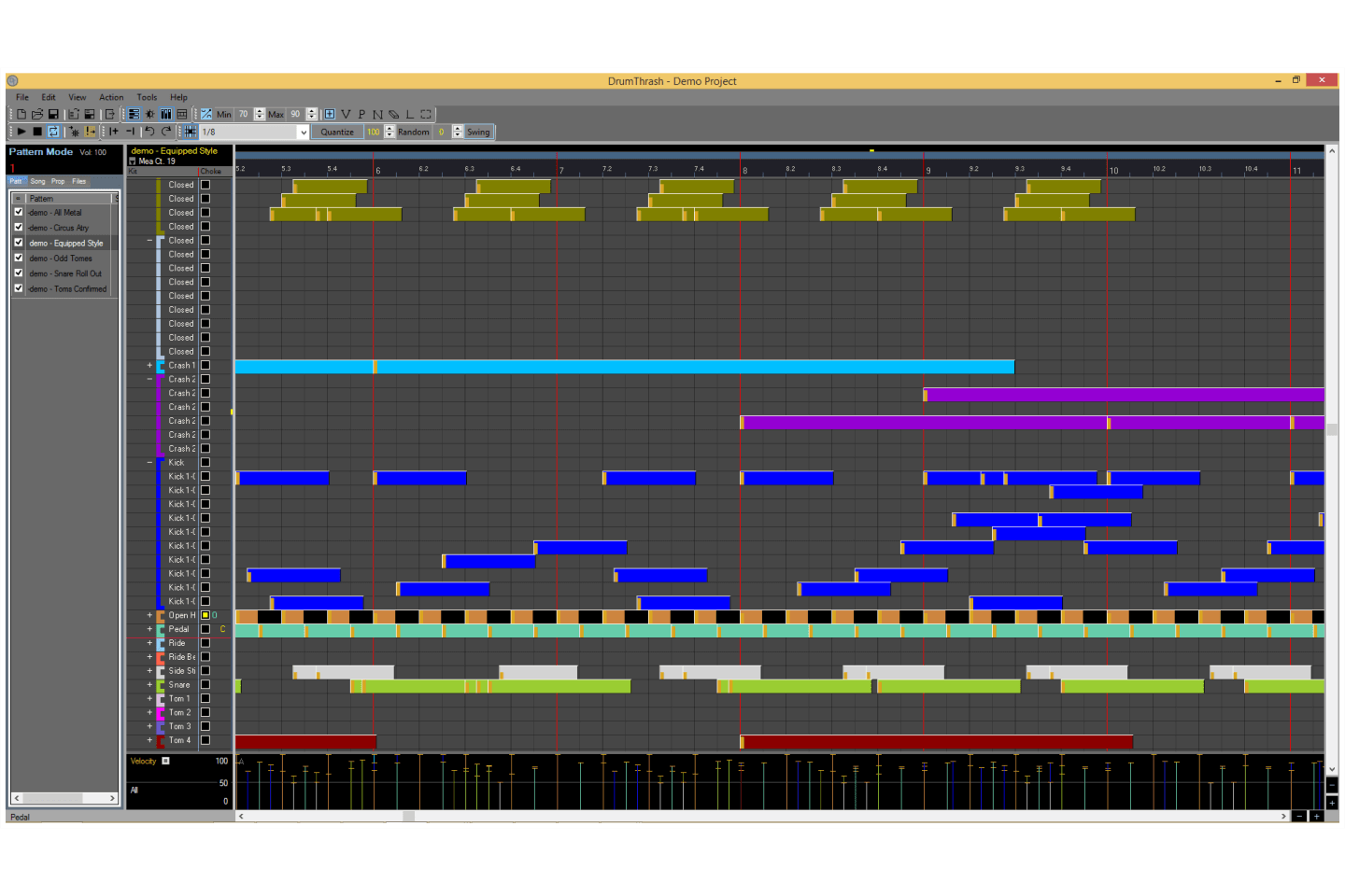 DrumThrash Drum Machine Software